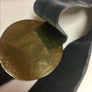 Velvet stretch belt